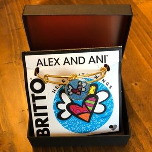 Alex and Ani New in Box Heart with Wings bracelet